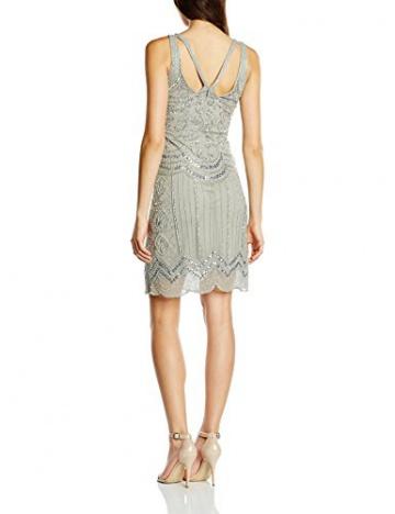 Frock and Frill Damen, Kleid, Ziegfeld Sequin Flapper, GR. 36 (Herstellergröße: Size 10), Grau (grey) - 2