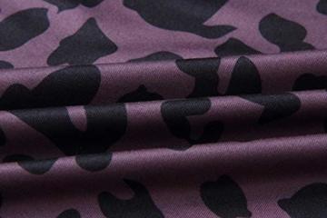 Frühling Herbst Damen Leopardenprint Minikleid Mode Rundhals Langarm Kleid Wickelkleider Sexy Etui Kleider Tunikakleid Cocktailkleid Partykleider, Braun, L - 6