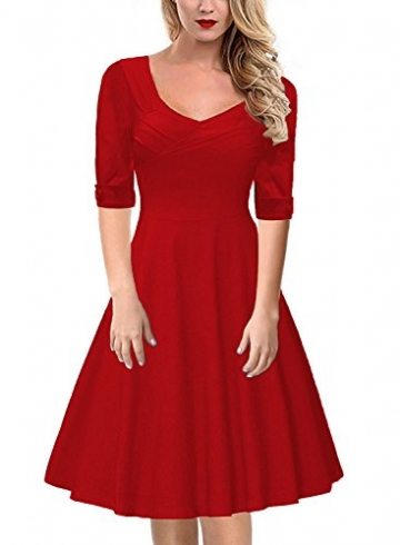 reputable site f7689 cd711 Gigileer Elegantes 50s Rockabilly Cocktailkleid Knielang