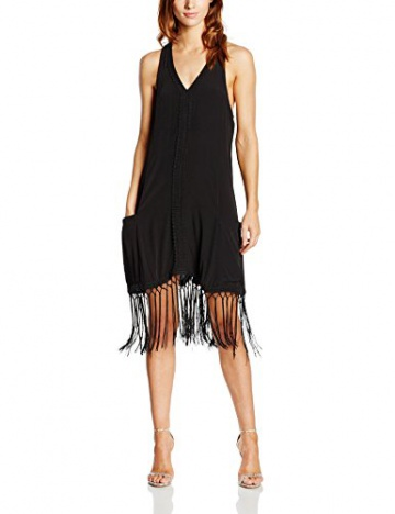 Girls on Film Clothing Damen, Kleid, Drop Pocket Crochet Detail Fringe, GR. 36 (Herstellergröße: Small), Schwarz (black) - 1