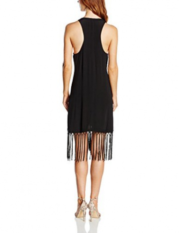 Girls on Film Clothing Damen, Kleid, Drop Pocket Crochet Detail Fringe, GR. 36 (Herstellergröße: Small), Schwarz (black) - 2