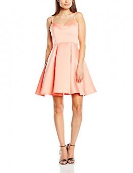 Girls on Film Clothing Damen Skater, Kleid, Ballerina Satin, GR. 34 (Herstellergröße: Size 8), Rosa (Coral) - 1