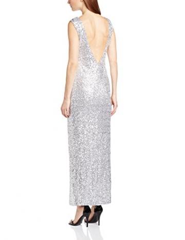 Glamorous Damen Cocktail Kleid Ck0068, Gr. 38, silber - 2