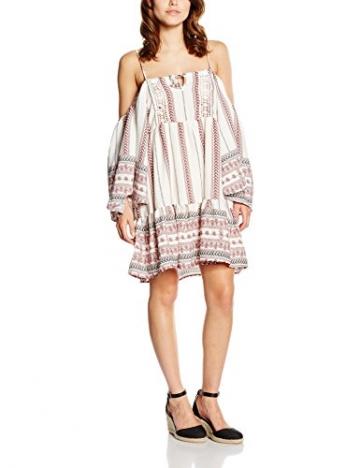 Glamorous Damen Kleid Boho, Weiß (White Tribal Border), 38 (Herstellergröße: Small) -