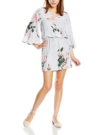 Glamorous Damen Kleid Gr. 36, Mehrfarbig - Multicoloured (Grey Lace Flower Print) -