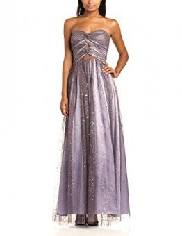 Hailey Logan Damen Dekolletiertes Kleid Ballgwn W Sheer Insrts, Maxi, Gr. 30, Beige (Taupe) - 1
