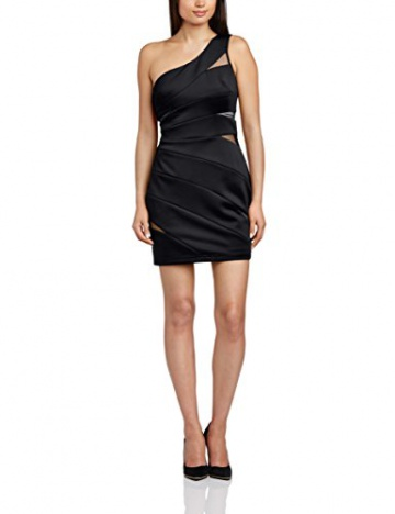 Hailey Logan Damen One-Shoulder Kleid, Gr. 30, Schwarz - 1