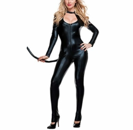 Halloween Overall Katze Nachtclub Cosplay Kostüm Bar Catwoman Bühne Kostüm Anzug - 1