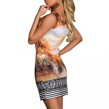 Hee Grand Damen reizvolle Strandkleid fuer Minikleid Leopard Kleid Sommer Druckweinlese Partei evenning fuer Frauen sexy Vereinkleid Gelb - 4