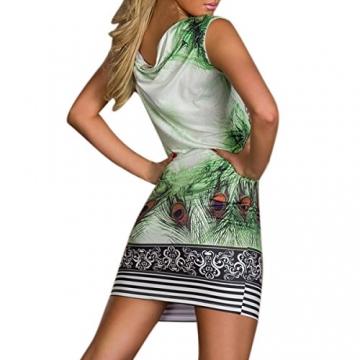 Hee Grand Damen reizvolle Strandkleid fuer Minikleid Leopard Kleid Sommer Druckweinlese Partei evenning fuer Frauen sexy Vereinkleid Gruen - 4