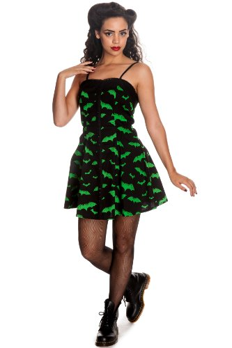 Hell Bunny Minikleid BAT MINI DRESS Grün M - 1