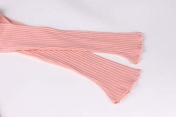 Hffan Damen Herbstkleid Eng Minikleid Elegant Sexy Modisch Langarm Schulterfrei Kurz Wickelkleid Stricken Tube Top Kleid Einfarbig Einfach Bequem Freizeit Minikleid(Rosa,Small) - 6