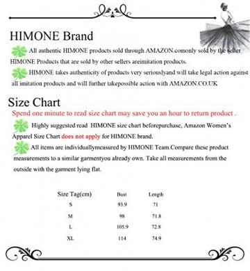 HIMONE Damen V-Ausschnitt Chiffonkleid Party Sommerkleid Festliches Kleid A-Linie kalte Schulter (S,Dunkelblau) -