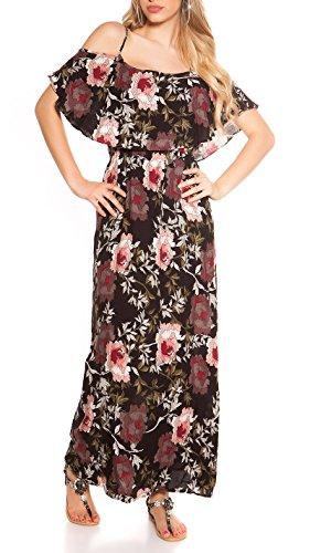 Hippes Maxi-Kleid im Coachella-Look mit Flower-Print S/M - 1