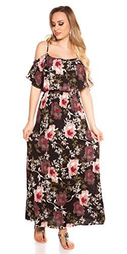 Hippes Maxi-Kleid im Coachella-Look mit Flower-Print S/M - 2