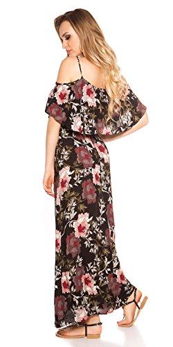 Hippes Maxi-Kleid im Coachella-Look mit Flower-Print S/M - 3