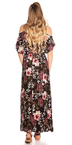 Hippes Maxi-Kleid im Coachella-Look mit Flower-Print S/M - 4