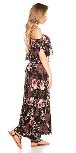 Hippes Maxi-Kleid im Coachella-Look mit Flower-Print S/M - 5