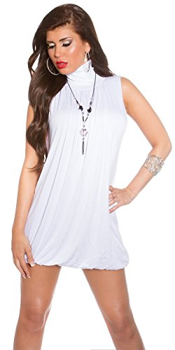 Hippes Minidress im Ballon-Style mit Halskette S/M - 5