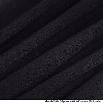 HOMEYEE Damen Vintage Stehkragen Kurzarm Bodycon Business Bleistift Kleid B430 (EU 36 = Size S, Rot + Schwarz) - 6