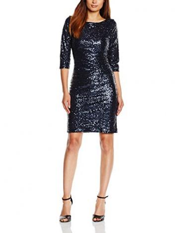 HotSquash Damen Cocktail Kleid, Gr. 34, Blau - 1