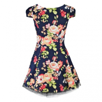 H&R London Minikleid ROMANTIC FLOWERS DRESS navy S - 2