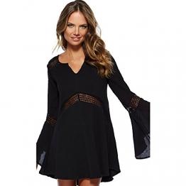 HSG sexy hot charmante Spitzen A-Linie Cocktail-Party Clubwear Kleider (schwarz) - 1