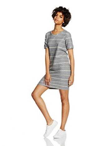 ICHI Damen Jumper Kleid 20100854, Mini, Gr. 36 (Herstellergröße: S), Weiß (10111 Cloud Dancer) -