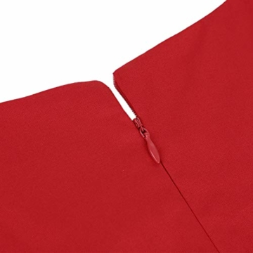 ihot 1950er Rockabilly Retro Kleid Rot 2