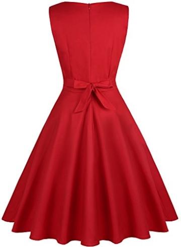 ihot 1950er Rockabilly Retro Kleid Rot 3