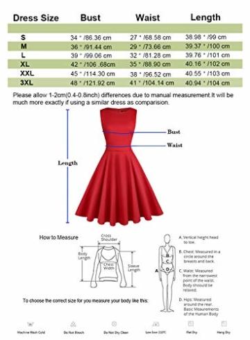 ihot 1950er Rockabilly Retro Kleid Rot 7