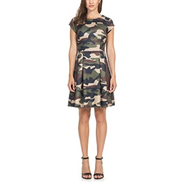 Intimuse Damen A-Linie Kleid Pergia 12118, Knielang, Gr. 42, Mehrfarbig (Camouflage Bedruckt 111) - 1