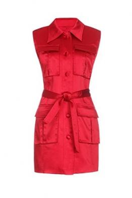Isabel Garcia Damen eng anliegendes Minikleid, Rot, DE38 - 1