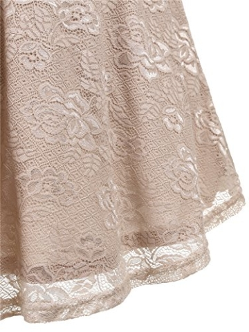 IVNIS RS90025 Damen Ärmellos Vintage Spitzen Abendkleider Cocktail Party Floral Kleid Champagne S - 7