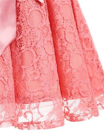 IVNIS RS90026 Damen Vintage Floral Kleider Brautjungfernkleider Spitzenkleid Ärmellos Fliege Partykleid Coral 3XL - 7