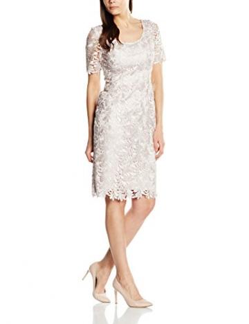 Jacques Vert Damen Bleistift Kleid, Leaf Lace Knielang , Gr. 34 (Herstellergröße: 8), Beige - Beige (Mid Neutral) -