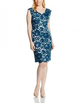 Jacques Vert Damen, Bleistift, Kleid, Opulent Large Floral Lace, GR. 48 (Herstellergröße: Size 22), Mehrfarbig (mid Blue) -