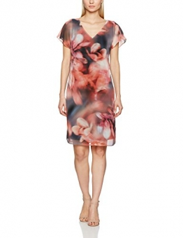 Jacques Vert Damen Kleid Chiffon and Jersey Printed Tunic, Mehrfarbig, 34 -