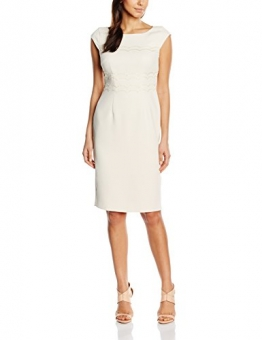 Jacques Vert Damen Kleid Cut Out Scallop, Mehrfarbig-Multicoloured (Light Neutral), Gr.42 EU(16UK) -