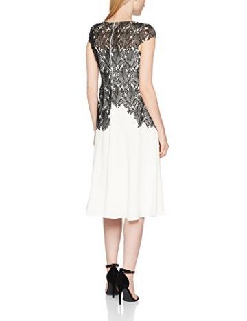 Jacques Vert Damen Kleid Leaf Lace Top Crepe Soft, Mehrfarbig, 34 -