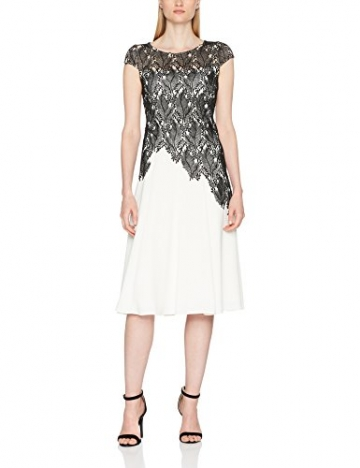Jacques Vert Damen Kleid Leaf Lace Top Crepe Soft, Mehrfarbig, 34 -