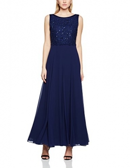 Jacques Vert Damen Kleid Long Carwash Lace, Blau (Dunkelblau), 42 -