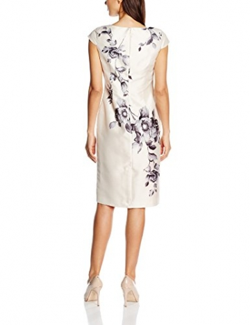 Jacques Vert Damen Kleid Oil Paint Placement, Mehrfarbig (Multi Cream), 50 (Herstellergröße: 22) -