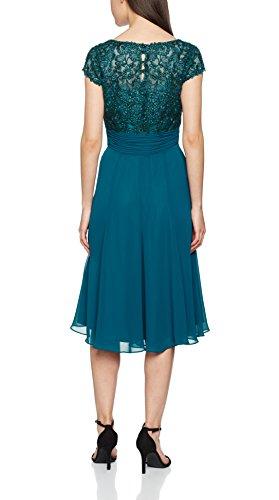 Jacques Vert Damen Kleid Petite Lace Bodice, Blue (Blue), 36 -