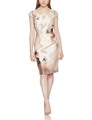 Jacques Vert Damen Kleid Petite Printed Santung, Mehrfarbig, 42 -