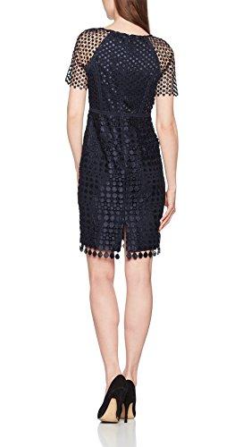 Jacques Vert Damen Kleid Petite Spot Lace, Blau (Marineblau), 44 -