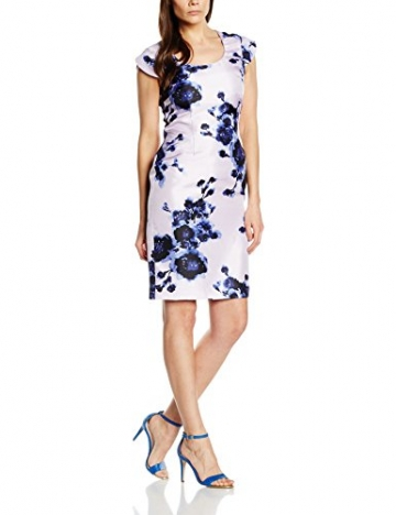 Jacques Vert Damen Kleid Petite Watercolour Peony, Mehrfarbig-Multicoloured (Multi Purple), 36 -