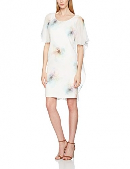 Jacques Vert Damen Kleid Printed Drape Cape, Mehrfarbig, 34 -