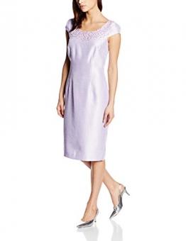 Jacques Vert Damen Tunika Kleid, Bead Embellished Knielang , Gr. 42 (Herstellergröße: 16), Violett (Lilac) -