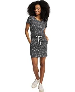 Jersey Sommerkleid mit Kordelzug grau 1